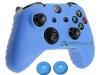 Capa Case Skin Xbox One X Microsoft Azul + Grip Cor