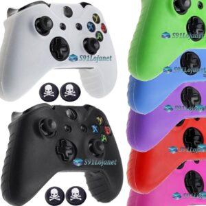 Capa Case Skin Xbox One X Microsoft Coloridas + Grip Skull