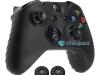 Capa Case Skin Xbox One X Microsoft Preto + Grip Cor