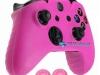 Capa Case Skin Xbox One X Microsoft Rosa + Grip Cor