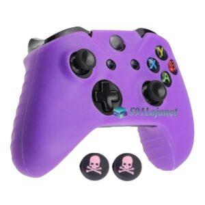 Capa Case Skin Xbox One X Microsoft Roxo + Grip Skull