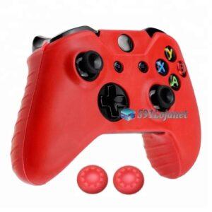 Capa Case Skin Xbox One X Microsoft Vermelho + Grip Cor