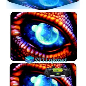 Touch Pad Ps4 Skin Decal Adesivo Controle Olho Dragão D274