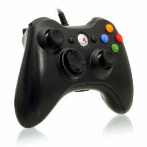 Controle Xbox 360 E Pc Com Fio 2 Metros Knup Kp-5121a