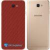 Galaxy J5 Prime Adesivo Skin Traseiro Carbono Vermelho