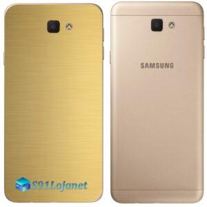 Galaxy J5 Prime Adesivo Skin Traseiro Metal Gold