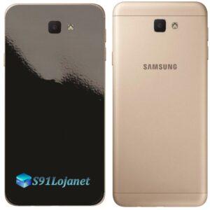 Galaxy J5 Prime Adesivo Skin Traseiro Preto Black Piano