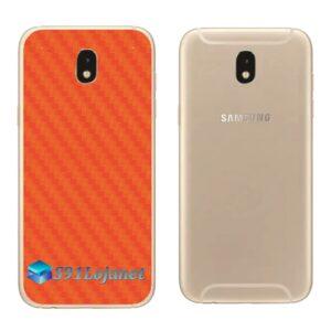 Galaxy J5 Pro Adesivo Skin Traseiro Carbono Laranja