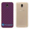 Galaxy J5 Pro Adesivo Skin Traseiro Carbono Roxo