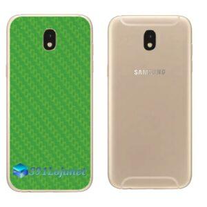Galaxy J5 Pro Adesivo Skin Traseiro Carbono Verde