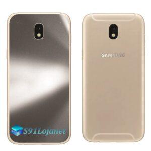 Galaxy J5 Pro Adesivo Skin Traseiro Metal Titãnio