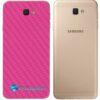 Galaxy J7 Prime Adesivo Skin Traseiro Carbono Rosa