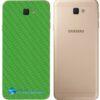 Galaxy J7 Prime Adesivo Skin Traseiro Carbono Verde