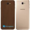Galaxy J7 Prime Adesivo Skin Traseiro Metal Bronze