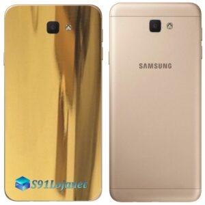 Galaxy J7 Prime Adesivo Skin Traseiro Metal Ouro Gold Cromo