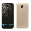 Galaxy J7 Pro Adesivo Skin Traseiro Couro Negro Preto