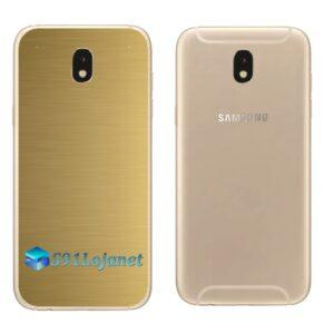 Galaxy J7 Pro Adesivo Skin Traseiro Metal Ouro Gold