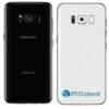 Galaxy S8 Adesivo Skin Carbono Branco