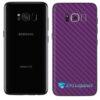 Galaxy S8 Adesivo Skin Carbono Roxo