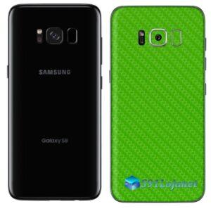 Galaxy S8 Adesivo Skin Carbono Verde