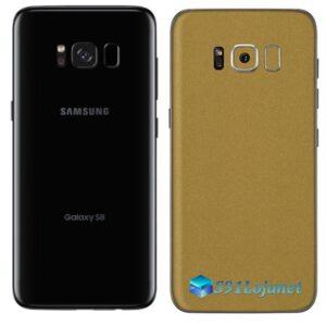 Galaxy S8 Adesivo Skin Metal Ouro Gold