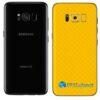 Galaxy S8 Plus Adesivo Skin Carbono Amarelo