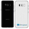 Galaxy S8 Plus Adesivo Skin Carbono Branco