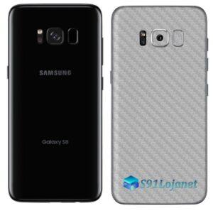 Galaxy S8 Plus Adesivo Skin Carbono Cinza