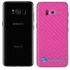 Galaxy S8 Plus Adesivo Skin Carbono Rosa Pink