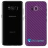 Galaxy S8 Plus Adesivo Skin Carbono Roxo