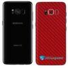 Galaxy S8 Plus Adesivo Skin Carbono Vermelho