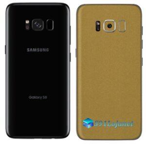 Galaxy S8 Plus Adesivo Skin Metal Ouro Gold