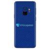 Galaxy S9 Adesivo Skin Carbono Azul
