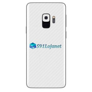 Galaxy S9 Adesivo Skin Carbono Branco