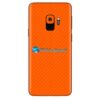 Galaxy S9 Adesivo Skin Carbono Laranja