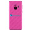 Galaxy S9 Adesivo Skin Carbono Rosa