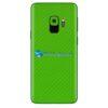 Galaxy S9 Adesivo Skin Carbono Verde