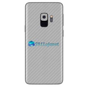 Galaxy S9 Plus Adesivo Skin Carbono Cinza