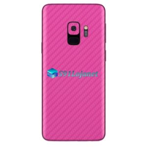 Galaxy S9 Plus Adesivo Skin Carbono Rosa
