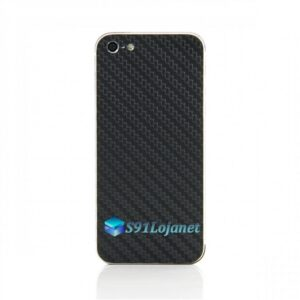 Iphone 5 5c 5s Skin Adesivo Sticker Carbono Preto