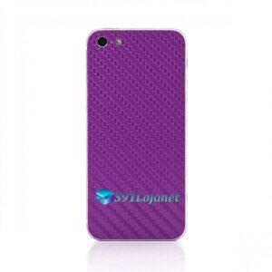 Iphone 5 5c 5s Skin Adesivo Sticker Carbono Roxo