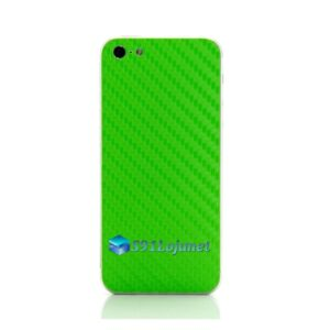 Iphone 5 5c 5s Skin Adesivo Sticker Carbono Verde