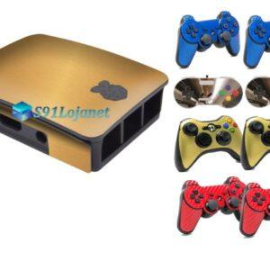 Raspberry Pi Adesivo +2 Skin Controle Escovado Ouro Gold