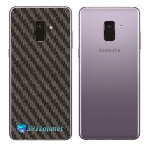 Samsung Galaxy A8 Adesivo Skin Carbono Preto