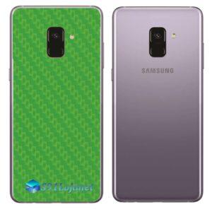Samsung Galaxy A8 Adesivo Skin Carbono Verde