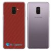Samsung Galaxy A8 Adesivo Skin Carbono Vermelho