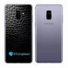 Samsung Galaxy A8 Adesivo Skin Couro Preto Negro