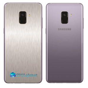 Samsung Galaxy A8 Adesivo Skin Meta Aço Escovado