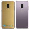 Samsung Galaxy A8 Adesivo Skin Metal Ouro Escovado