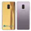 Samsung Galaxy A8 Adesivo Skin Metal Ouro Gold Cromado